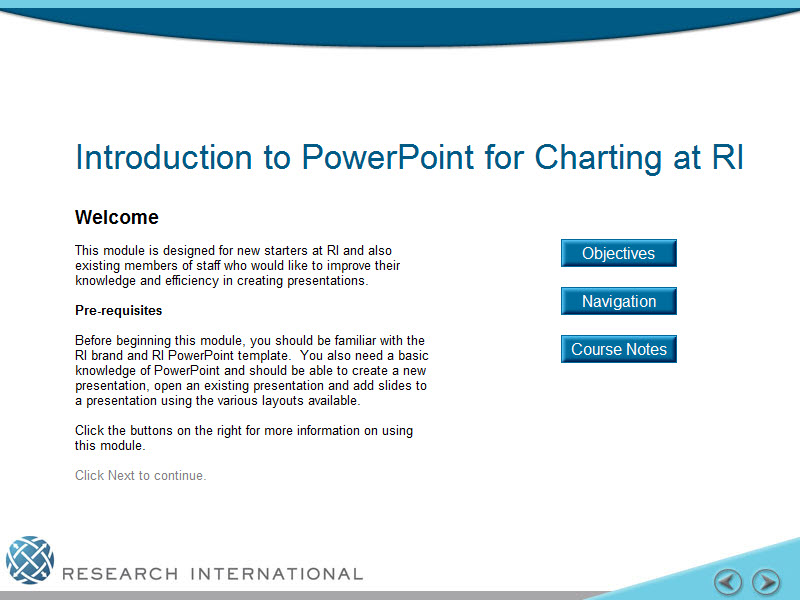 RI - PowerPoint for Charting