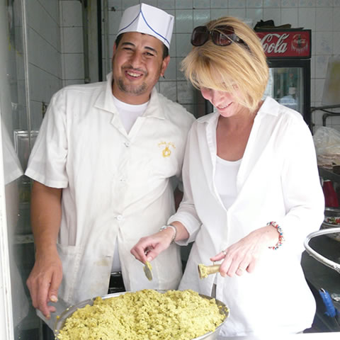 Vocational Skills, Making falafel at Hashem Restaurant, Downtown Amman